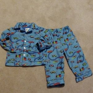 Nick & Nora Toddler Boys PJ's 2Pc Tractors Trains